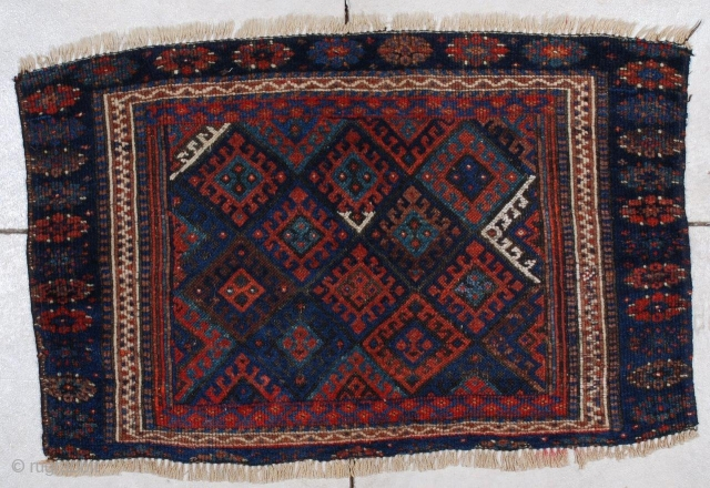 #7069 Antique Jaf Kurd Rug