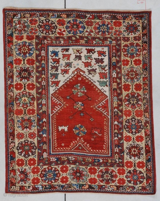 #7143 Antique Melas Turkish Rug 