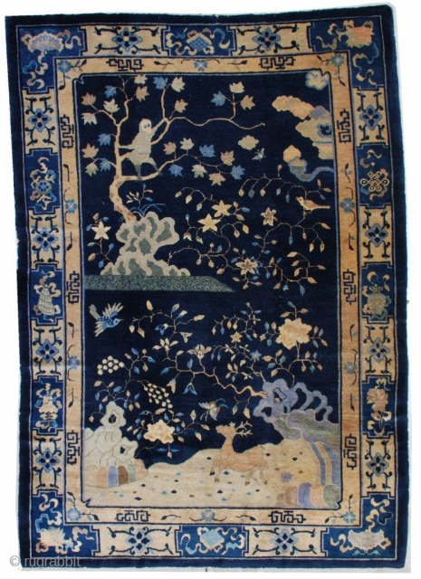 #7184 Antique Peking Chinese Rug 
