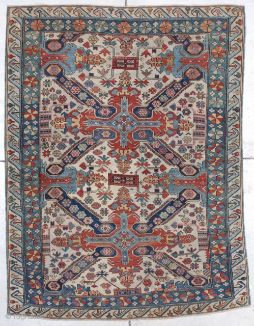 #7239 Seyhore Kuba Antique Caucasian Rug 