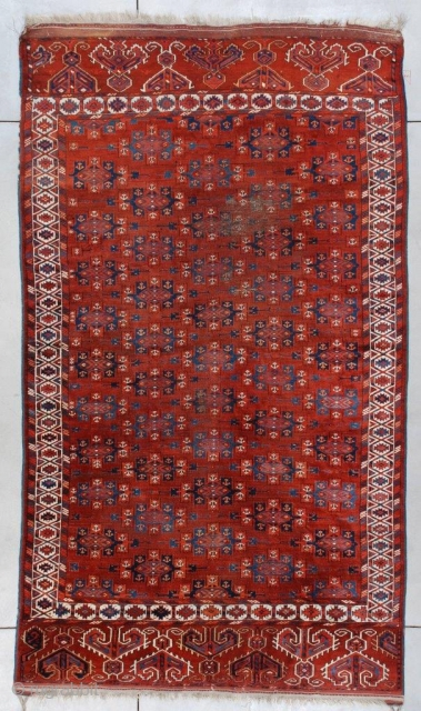 #7373 Antique Yomud Bohkara Rug 