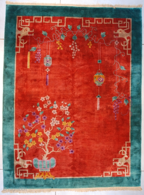 #7612 Art Deco Chinese Rug