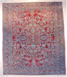 Antique Agra Oriental Rug From India #7650