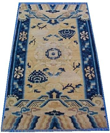 "#5935 Antique Ningxia Chinese Rug 2'11"" X 5'2″