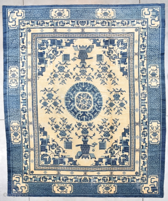 #6492 Antique Peking Chinese Rug 