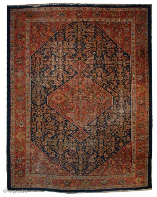 #6566 Mahal Antique Persian Rug