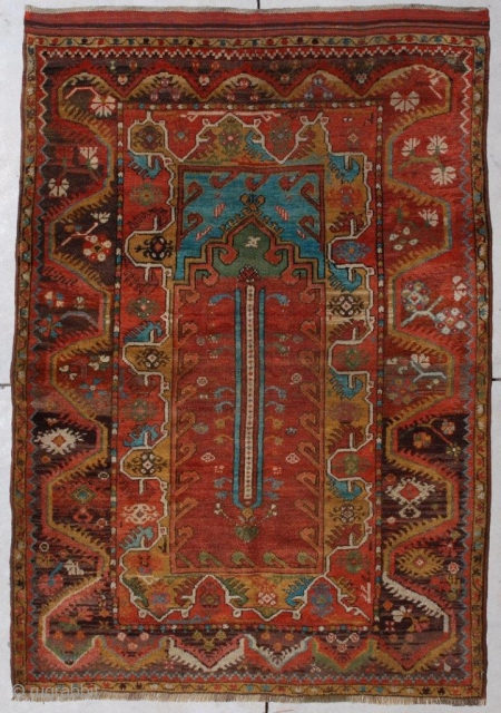 #6787 Antique Turkish Melez Rug 