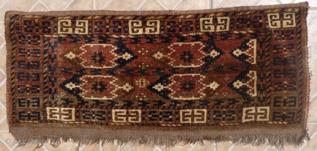 Ersari Beshir Torba, 40 x 90 cm. Ikat design. Provenance: Perez (London) collection. Around 1900 full-piled condition. $150 plus 40 for P&P (worldwide, insurance incl.