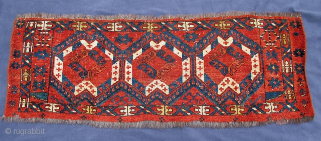 """Ikat Jollar, excellent condition, early 19th, century, a plethora of natural colors, warps of goat hair, wefting commingled with cotton and wool, 50"""" X 18""""[127 X 46cm]"""
