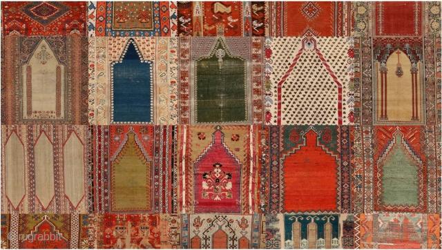 Alberto Levi Gallery presents... Like A Prayer: A Collection of Antique Anatolian Niche Design Rugs   http://www.rugrabbit.com/content/prayer