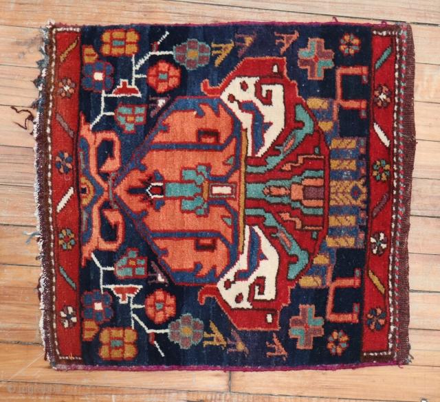 Antique Bakhtiar Sampler mat 1'8''x1'10''