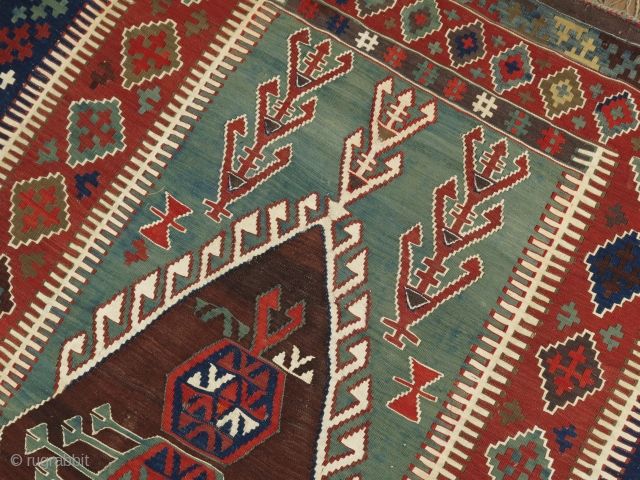 Antique Turkish Kilim 4'9''x6'6''.  Great design and size.