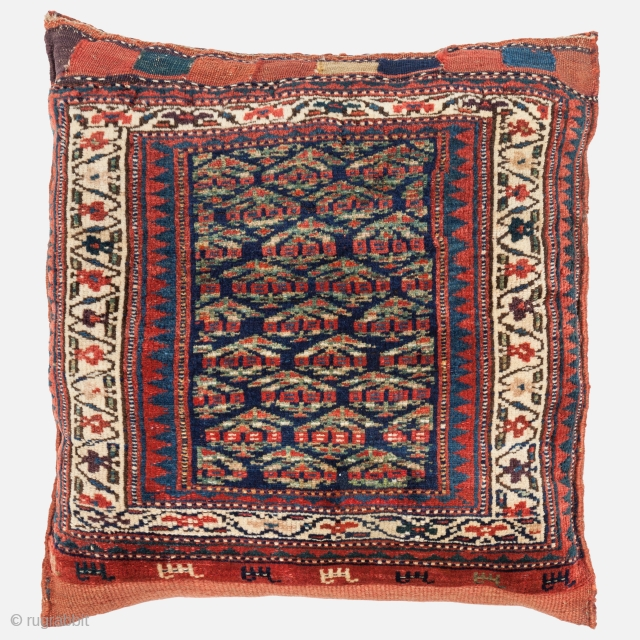 Shahsavan Bag, Late 19th century, All natural colours, Excellent condition, One small invisible repair. Size: 66 x 64 cm. | 26 x 25 inch.