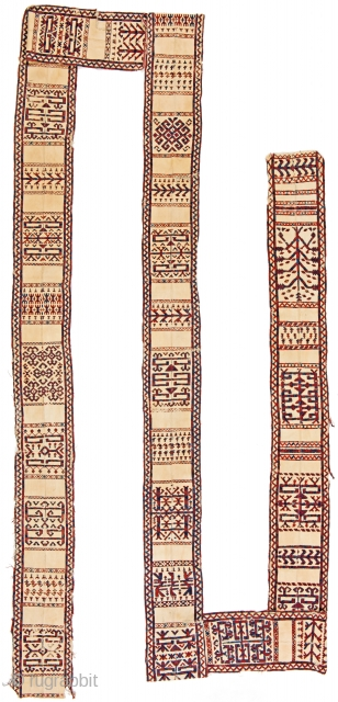 Tentband fragment 1094 x 29 cm (35ft. 11in x 11in.)