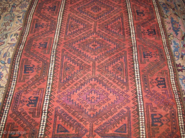 Old Baluch rug in mint condition size 6 x 4 ft.