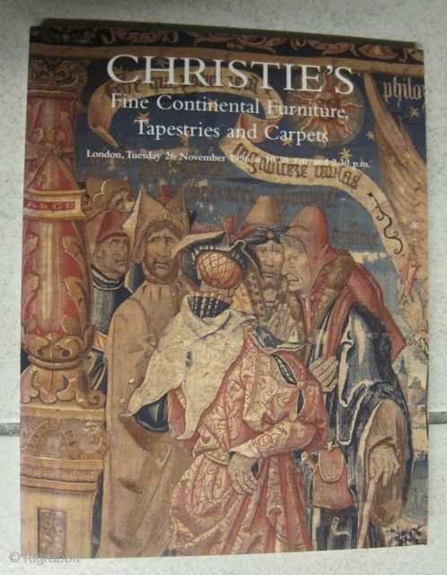 Christies Catalogue: Fine continental furniture, Tapestries and Carpets. London, 26. November 1996