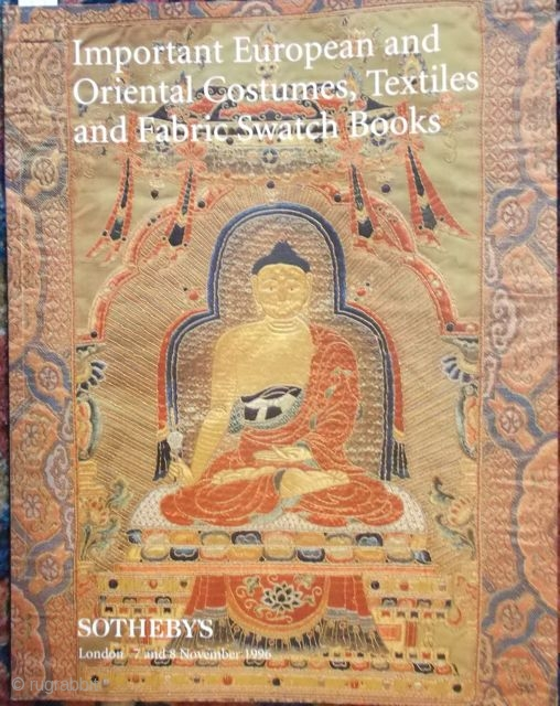 Important European and Oriental Costumes, Textiles and Fabric Swatch books, Sothebys 7/8.11.1996
