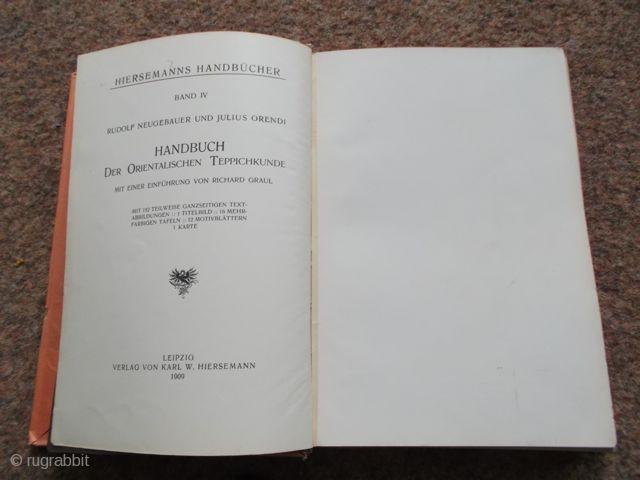 Neugebauer/Orendi: Handbuch der Teppichkunde