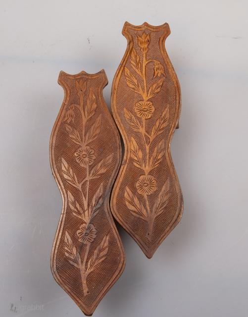 Ottoman Turkish Bath Slippers ( Nalin) late 19th , early 20th c.