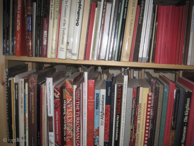 Books: Hundreds of rug and textile books on all topics: West- and East Turkestan, Anatolia, Persia, Baluchi, Caucasus, China/Tibet, North Africa, Near East etc. including many rare titles for reasonable prices.  Focus  ...