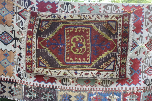 Central Anatolian end of 19th century Yastik  very good condition ,no repairs size cira  93 cm x 56 cm