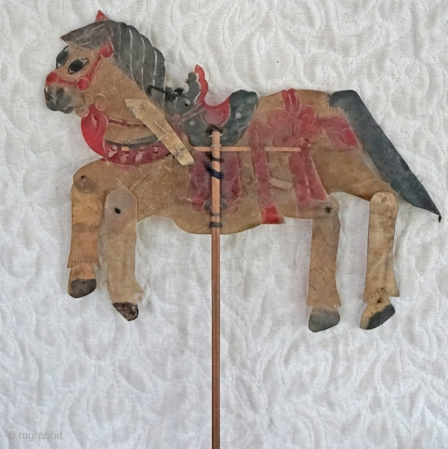Antique Qing Dynasty Chinese shadow Puppet...        