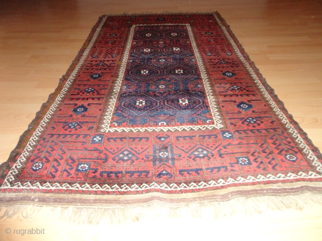 Fantastic  antique  Belutch  19 th. century  98 X 178 cm.    fine  weave  , top  quality  wool , very good  condition  ...
