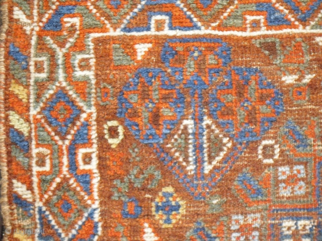 Khamseh - Kamseh - worn condition - nice colors - Size: 122 x 86 cm, shpping worldwide possible