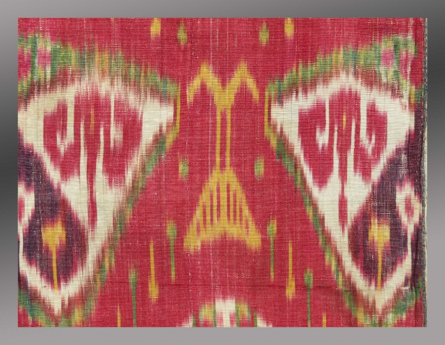 Detail - Uzbek Ikat Panel, mid 19th Century, 1' x 2'3"