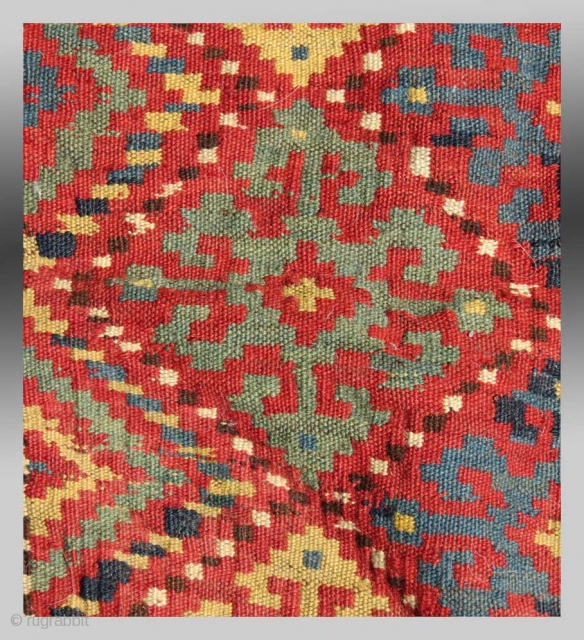 "Uzbek Bag Face, N. Afghanistan, circa 1900, 2'6"" x 2'3""