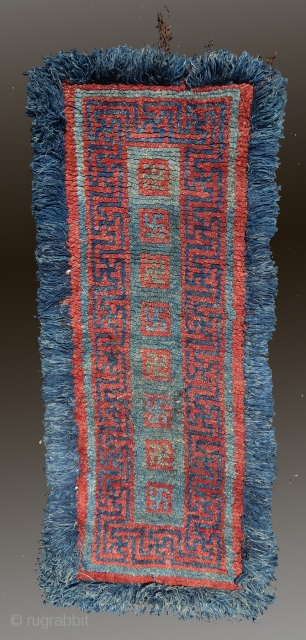 "Tibetan Rug, 19th C., 2'8"" x 6'3""