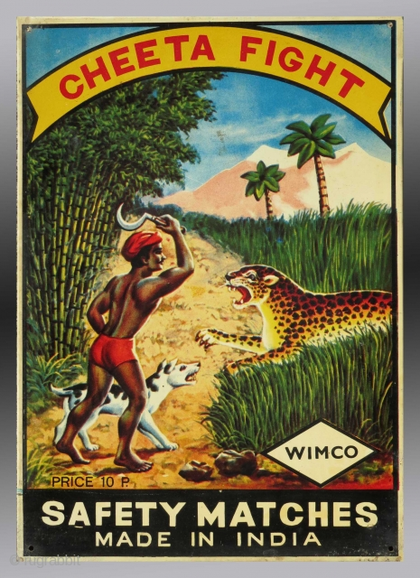 Vintage Advertising Sign from India  Please inquire for further information and detail images