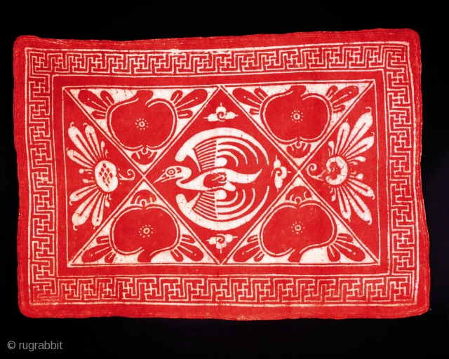 Mongolian resist dyed felt.