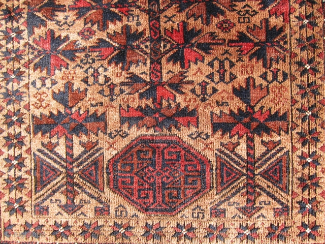 """Great and antique Baluch prayer rug, mint condition, no repairs very soft wools, size is 5'-6""""x3'-1"""""""
