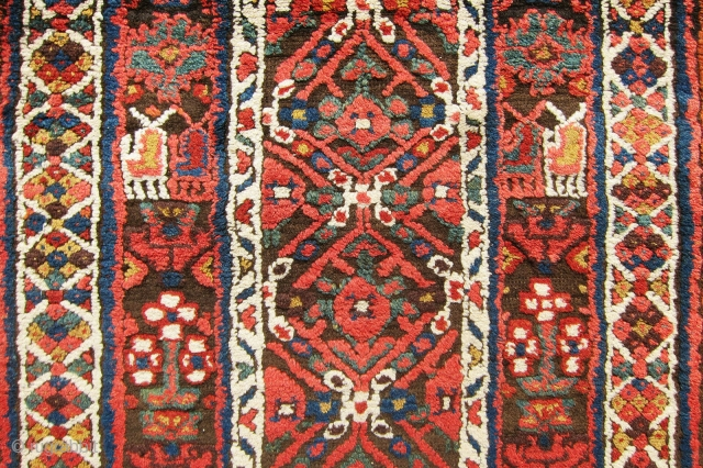 One of the most gorgeous, colorful Sauj-Boulagh?? Kurdish rug, it is a very old piece but I am not sure about its origin. It has thick pile, extremely soft wool and more  ...