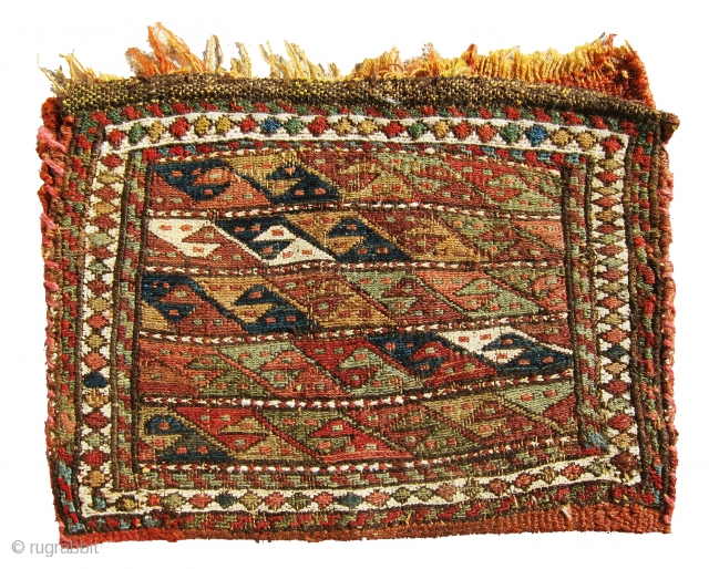 Very nice and lovely small haybe money bag sumac most probably from shahsavan?? It is very old and extremely gorgeous.