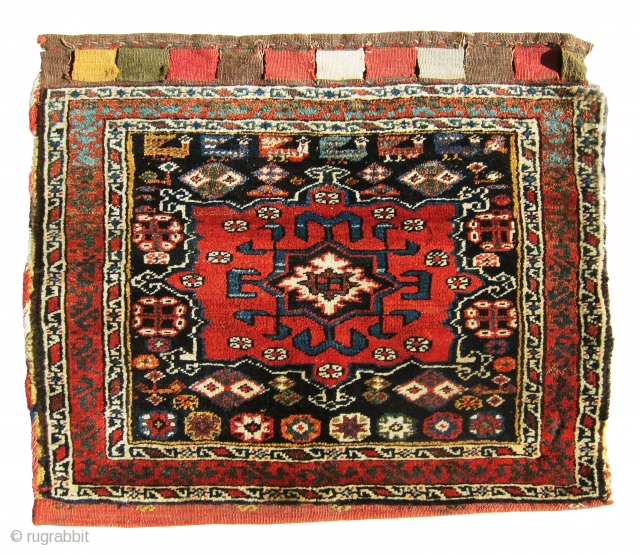 Antique, Gharadagh pile bag with awesome colors, extremely soft wool and fine quality. Not easy to find at this age, condition for this price.