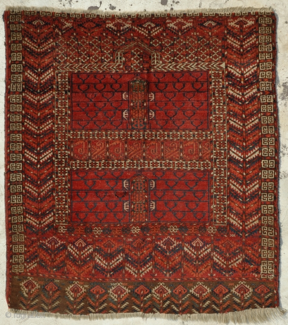 Tekke Egnsi 19th century (cut & reduced) size is 133 x 121 cm.
