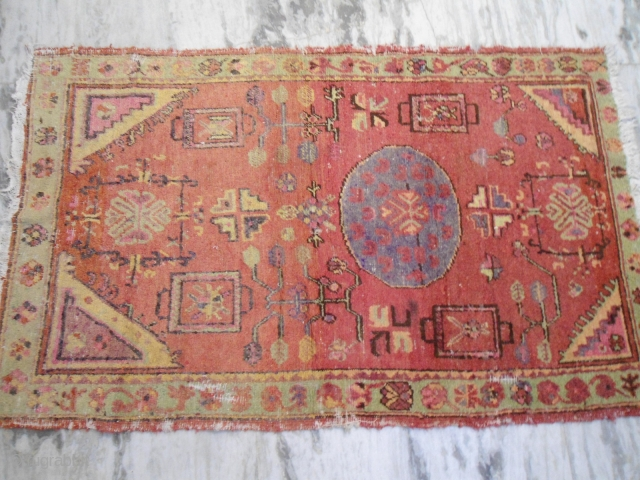 Antique Khotan rug 3 ft 4inches x 5 ft 6 inches