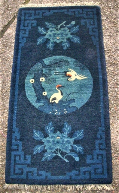 Antique chinese Pao-Tou rug. Size: 60 x 119 cm. Very good condition. Top!