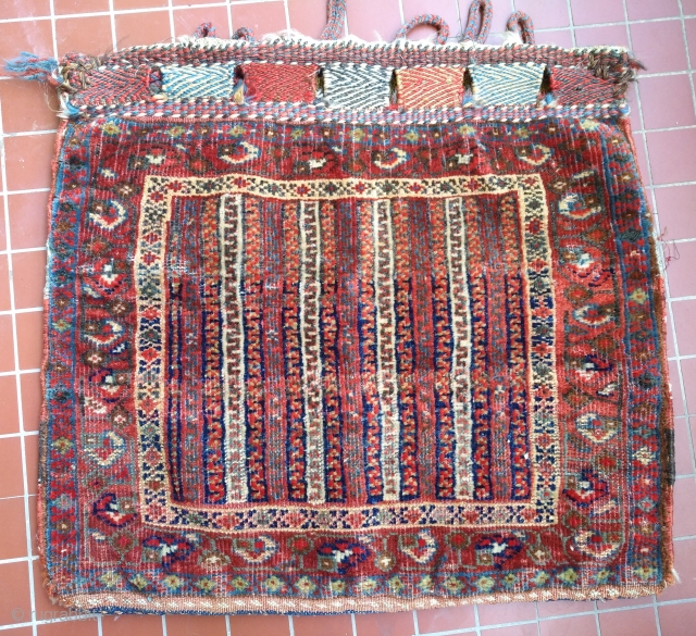 Fine Antique South persian tribal bagface with colorful back, (47 x 53 cm), good condition, a beauty at the cheapest price...