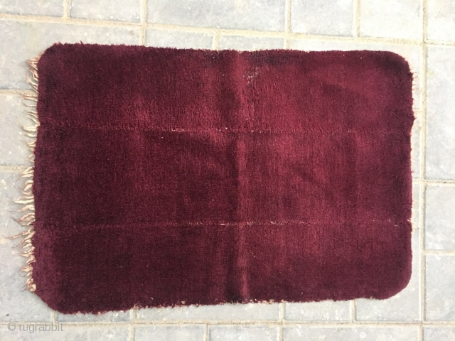 Tibetan saddle rug, nice red color, very tightly row knitting, good age and condition,size 77*53cm
