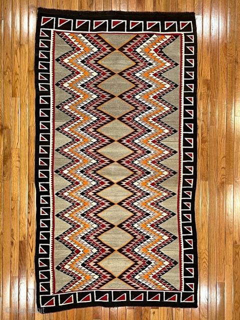 "Navajo Teec Nos Pos 6'9"" X 3'9"" Very good condition."
