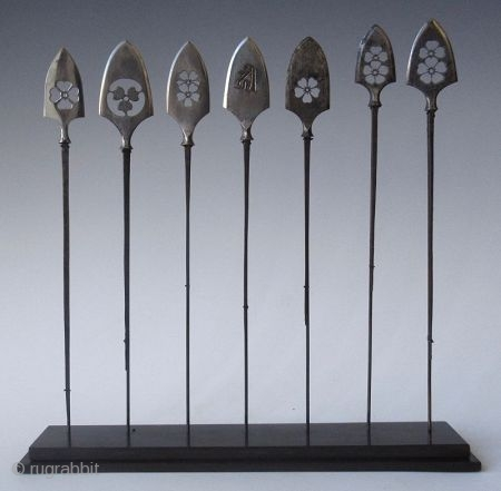 Japanese Set of Seven Yanone mounted Arrow Collection