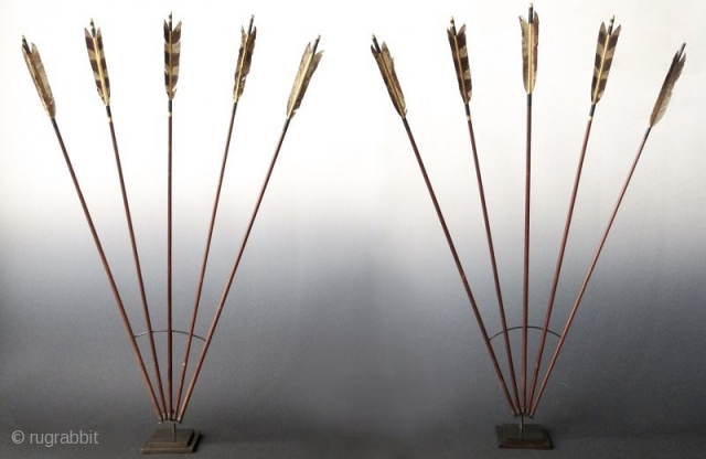 Japanese Set of Ten Ya Yumi Hawk Feather Arrows