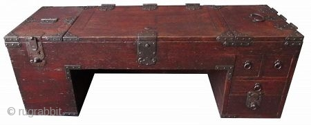 Rare Japanese Low Shop Desk Tansu