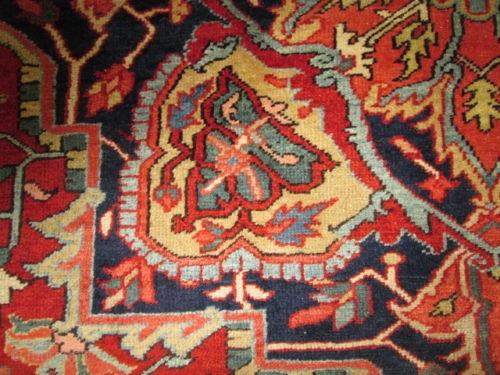 Antique Persian Heriz Serapi Circa 1910 Rug Stunning