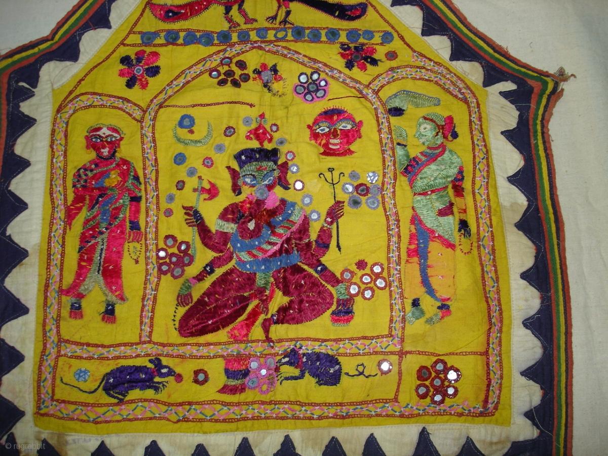Ganesh Sthapana Wall Hanging From Saurashtra Gujarat.India.Used by ...