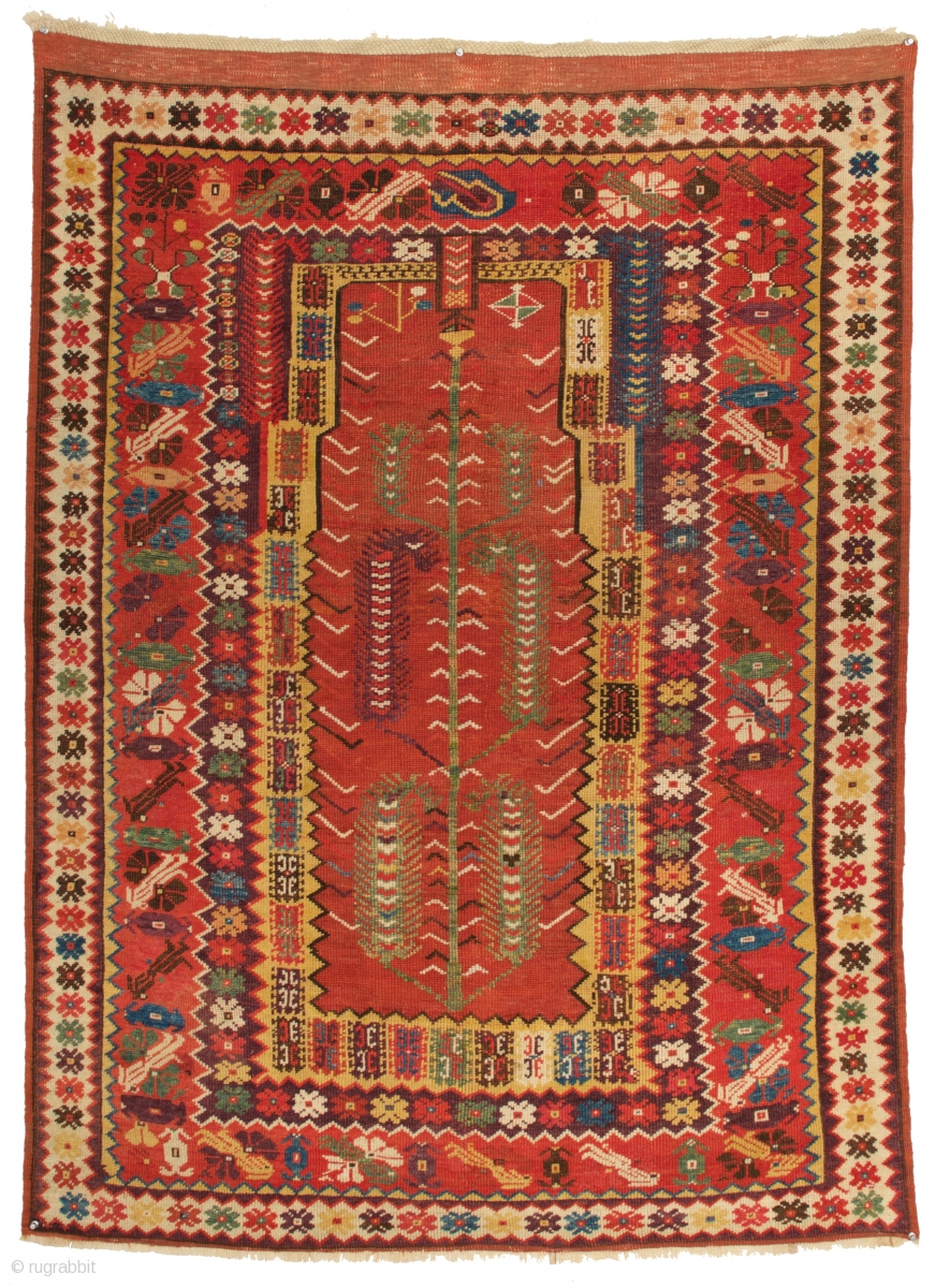 Magnificent Milas Prayer Rug Anatolia 2nd Half 19th