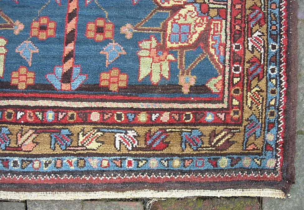 Narrow Heriz Runner 2 Ft 9 X 10 Ft 9 Inches Great Size